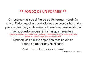 Recordatorio de donacion uniformes