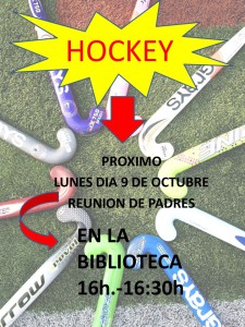 reunion de padres Hockey CARTEL COLEGIO